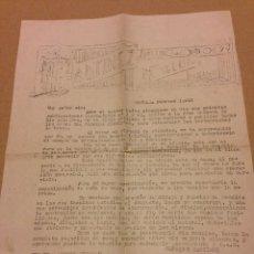 Cartas comerciales: CARTA PUBLICITARIA DE MUEBLES MARTINEZ.NOVELDA.ALICANTE.AÑO 1945. Lote 191747438