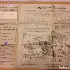 Cartas comerciales: PUBLICIDAD SERRAHIMA Y URPI,S.L EDITORES.MOBILIAROS ECONOMICOS.BARCELONA.AÑOS 40. Lote 191747815