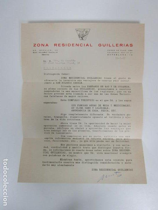 Cartas comerciales: Carta Comercial, Tarjeta Postal Publicitaria y Mapa - Zona Residencial Guillerias, Vilanova de Sau - Foto 2 - 192910408