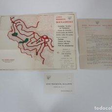 Cartas comerciales: CARTA COMERCIAL, TARJETA POSTAL PUBLICITARIA Y MAPA - ZONA RESIDENCIAL GUILLERIAS, VILANOVA DE SAU. Lote 192910408