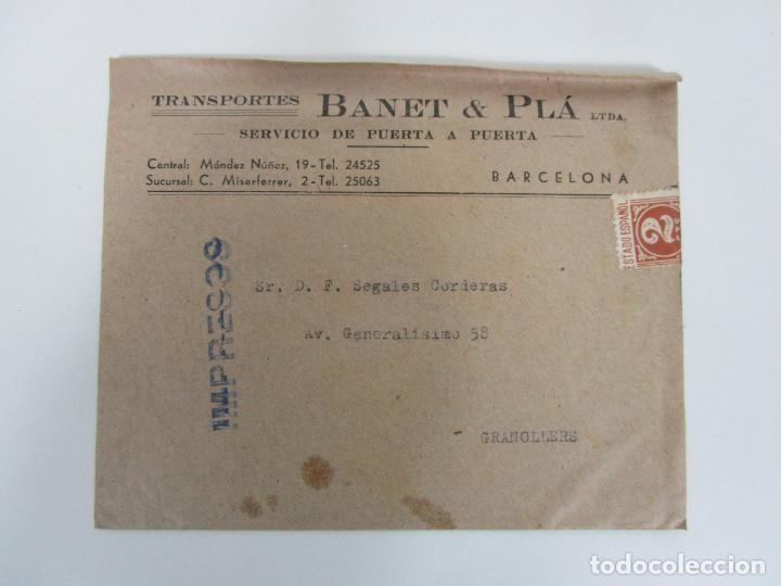 Cartas comerciales: Carta y Sobre Comercial - Impresos - Transportes Banet & Pla, Barcelona - Puerta a Puerta - Foto 2 - 192914287