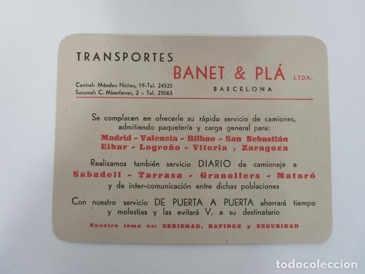 Cartas comerciales: Carta y Sobre Comercial - Impresos - Transportes Banet & Pla, Barcelona - Puerta a Puerta - Foto 4 - 192914287