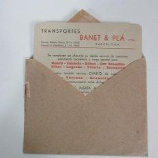 Cartas comerciales: CARTA Y SOBRE COMERCIAL - IMPRESOS - TRANSPORTES BANET & PLA, BARCELONA - PUERTA A PUERTA. Lote 192914287
