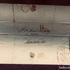 Cartas comerciales: ANTIGUA CARTA COMERCIAL DE BARCELONA A CASTANDA SANTANDER SIN SELLO SEPT 1842. Lote 192985501