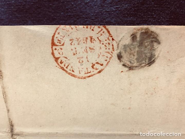 Cartas comerciales: ANTIGUA CARTA COMERCIAL DE BARCELONA A CASTANDA SANTANDER SIN SELLO SEPT 1842 - Foto 2 - 192985501