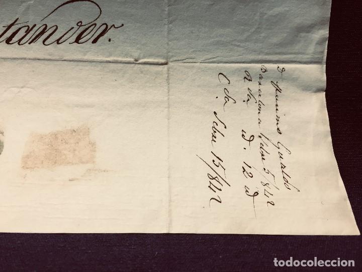 Cartas comerciales: ANTIGUA CARTA COMERCIAL DE BARCELONA A CASTANDA SANTANDER SIN SELLO SEPT 1842 - Foto 3 - 192985501