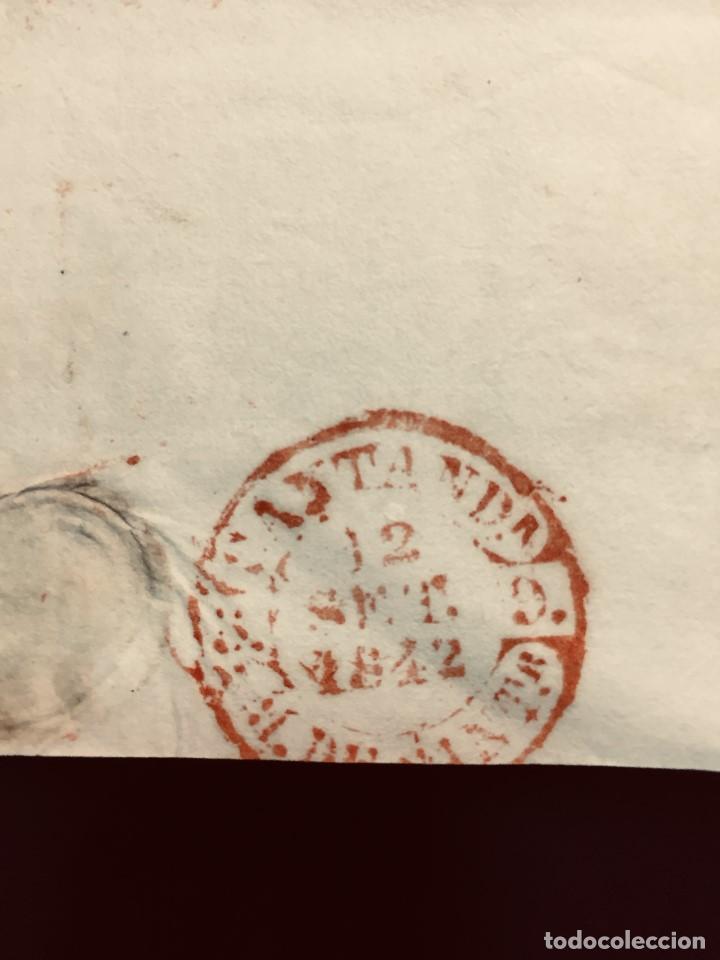 Cartas comerciales: ANTIGUA CARTA COMERCIAL DE BARCELONA A CASTANDA SANTANDER SIN SELLO SEPT 1842 - Foto 7 - 192985501