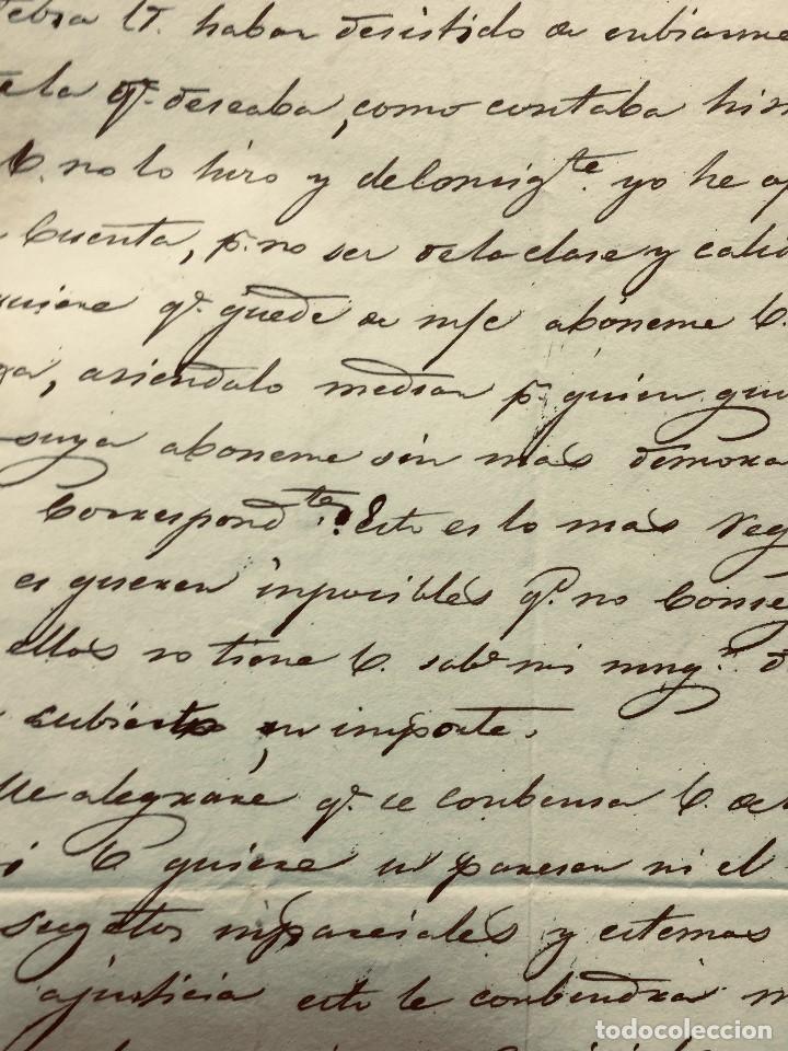 Cartas comerciales: ANTIGUA CARTA COMERCIAL DE BARCELONA A CASTANDA SANTANDER SIN SELLO SEPT 1842 - Foto 8 - 192985501