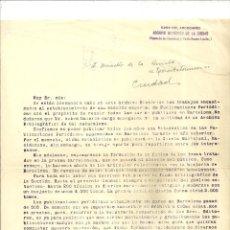 Cartas comerciales: 1170.- ARCHIVO HISTORICO DE LA CIUDAD DE BARCELONA-CA L`ARDIACA-AGUSTI DURAN I SANPERE. Lote 193878761