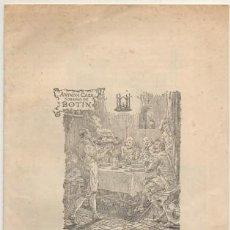 Cartas comerciales: CARTAMENU. ANTIGUA CASA SOBRINOS DE BOTIN. MADRID CARTAMENU-205. Lote 193899848