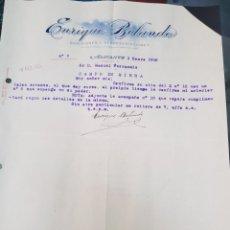 Cartas comerciales: ANTIGUA CARTA COMERCIAL COMISIONES BELANDO ALICANTE 1926. Lote 193994005