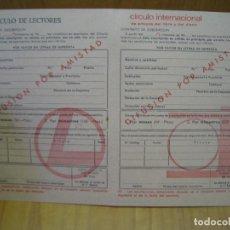 Cartas comerciales: ANTIGUA CARTA COMERCIAL CÍRCULO DE LECTORES. Lote 194151485