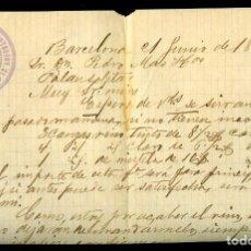 Cartas comerciales: LA COSTA DEL MONTSENY - 1886 CARTA COMERCIAL . Lote 194397093
