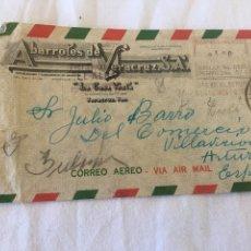 Cartas comerciales: SOBRE COMERCIAL ABARROTES VERACRUZ MEXICO. Lote 194407792