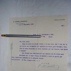 Cartas comerciales: CARTA POR EL VAPOR VILLA DE MADRID , 1935.. Lote 194517556