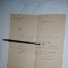Cartas comerciales: ABARZUZA , Y CIA . CARTA DE RECOMENDACION . 1895. Lote 194518697