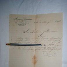 Cartas comerciales: CARTA DE GUTIERREZ HERMANOS , 1892 . Lote 194519218