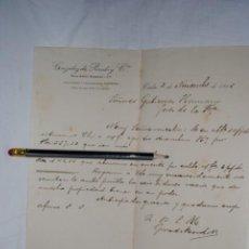 Cartas comerciales: CARTA COMERCIAL DE GONZALEZ DE PEREDO , 1915. Lote 194520437