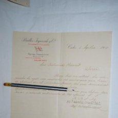 Cartas comerciales: VAPORES TRASATLANTICOS PINILLOS . 1900. Lote 194521120