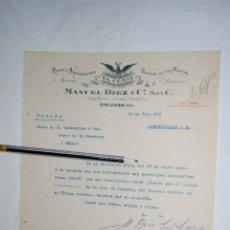 Cartas comerciales: EL FENIX , ROPA Y ABARROTES . 1912 . Lote 194521665