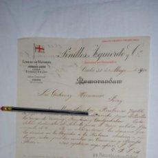 Cartas comerciales: PINILLOS ,LINEA DE VAPORES A PUERTO RICO .1900. Lote 194522218