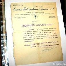 Cartas comerciales: TENERÍA MODERNA FRANCO-ESPAÑOLA 1939 MOLLET (BCN) CERTIFICADO-AUTORIZACIÓN ACTIVIDADES ECONÓMICAS. Lote 194679610