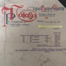 Cartas comerciales: CARTAS COMERCIALES PESCADOS Y MARISCO BRAVO GUERRA . SEVILLA AÑO 1945. Lote 194782000