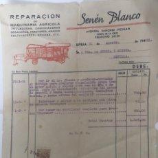 Cartas comerciales: CARTAS COMERCIALES MAQUINARIA AGRÍCOLA SENÉN BLANCO . SEVILLA AÑO 1951. Lote 194782192
