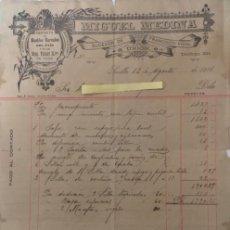 Cartas comerciales: CARTA COMERCIAL MUEBLES MIGUEL MEDINA SUCESOR DE FRANCISCO VIDAL . SEVILLA AÑO 1911. Lote 194782618