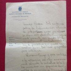 Cartas comerciales: MINISTERIO DE TRABAJO. INSTITUTO NACIONAL DE PREVISIÓN. DELEGACIÓN PROVINCIAL DE CORDOBA. Lote 195051056