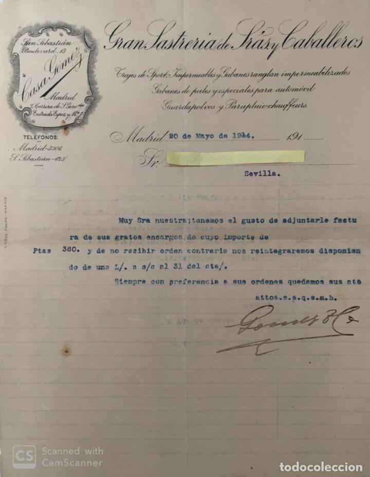 CARTA COMERCIAL CASA GÓMEZ AÑO 1914 (Coleccionismo - Documentos - Cartas Comerciales)