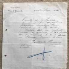 Cartas comerciales: TALLER DE CARROS HIJOS DE QUINTANILLA - PENAGOS (SANTANDER - CANTABRIA) - CARTA COMERCIAL AÑO 1920. Lote 195388745