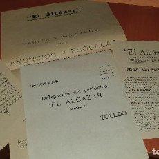 Cartas comerciales: PRENSA, VARIOS IMPRESOS DE EL ALCAZAR, DIARIO GRAFICO DE LA TARDE, TOLEDO, AÑOS 60. Lote 195393610