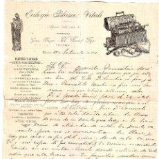 Cartas comerciales: CÁCERES CARTA COMERCIAL DE EULOGIO BLASCO VITALI . Lote 195539283