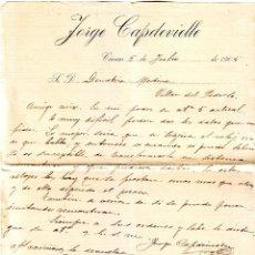 Cartas comerciales: CÁCERES CARTA DE JORGE CAPDEVIELLE. Lote 195539605