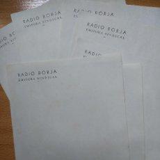 Cartas comerciales: 7 HOJAS, RADIO BORJA (ZARAGOZA), EMISORA SINDICAL, . Lote 195718325
