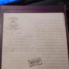 Cartas comerciales: CARTA / EXPOSICION UNIVERSAL 1873 EN VIENA CAPITAL DEL IMP. AUSTRO-HUNGARO FOMENTO DE LA PRODUCCION . Lote 196156683