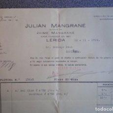 Cartas comerciales: LÉRIDA GUERRA CIVIL EMPRESA COLECTIVIZADA CARTA COMERCIAL AÑO 1936 SELLO CONTROL OBRERO MUY RARO. Lote 196390860