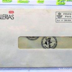 Cartas comerciales: CURIOSO SOBRE CIRCULADO DE LA DESAPARECIDA GALERÍAS PRECIADOS. Lote 196620775