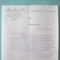 Lettres commerciales: CARTA COMERCIAL. ANTONIO CASAS Y CIA. IMPORTADORES. GUAYAQUIL 1915. GUTIERREZ HERMANOS. JEREZ. Lote 197537138