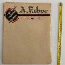 Cartas comerciales: PLUMAS A. FABRE DOCUMENTO CARTA COMERCIAL. Lote 198075721