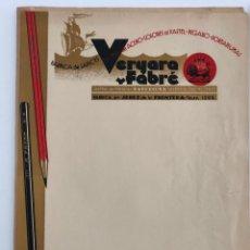 Cartas comerciales: LAPICES A. FABRE DOCUMENTO CARTA COMERCIAL. Lote 198075732