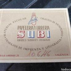 Cartas comerciales: CARTA COMERCIAL SUBI VALENCIA. Lote 198083375