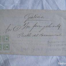 Cartas comerciales: DOCUMENTO DE PASO DE CREDENCIALES DE EMPRESA SANTANDER 1875 PEREZ PEÑA S. Lote 198131617