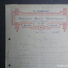 Cartas comerciales: ANDUJAR JAÉN CARTA COMERCIAL AÑO 1926 HOTEL COMERCIO DE ANTONIO SAEZ RODRÍGUEZ. Lote 198321930