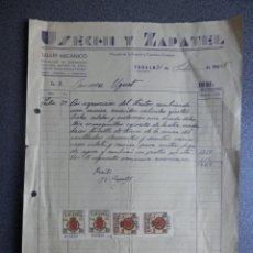 Cartas comerciales: TUDELA NAVARRA LOTE 3 CARTAS COMERCIALES FISCALES AÑO 1936-58 FARMACIA - GARAJE - TALLER MECÁNICO. Lote 198498230