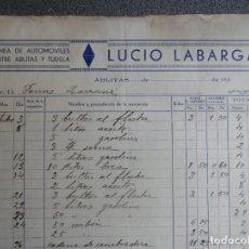 Cartas comerciales: ABLITAS NAVARRA LOTE 2 CARTAS COMERCIALES AÑO 1936 AUTOBUSES LUICO LABARGA Y CARPINTERÍA L AGRAMONTE. Lote 198499372