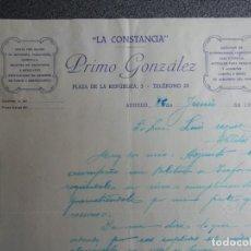 Cartas comerciales: ARNEDO LA RIOJA CARTA COMERCIAL AÑO 1936 MERCERIA, QUINCALLA, LA CONSTANCIA DE PRIMO GONZÁLEZ. Lote 198665776