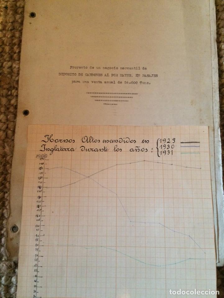 PROYECTO DEPOSITO CARBONES COMPLETO 1938 (Coleccionismo - Documentos - Cartas Comerciales)
