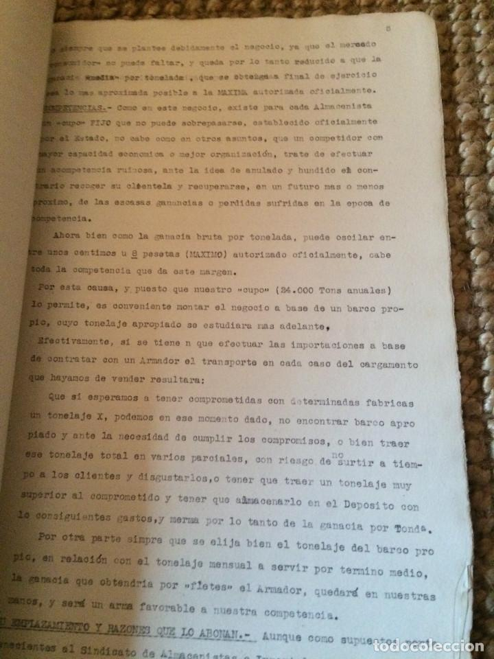 Cartas comerciales: PROYECTO DEPOSITO CARBONES COMPLETO 1938 - Foto 3 - 198879246